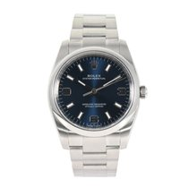 Rolex Oyster Perpetual 34 Staal 35mm Blauw
