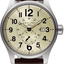 Hamilton Steel Automatic Champagne new Khaki Field Officer