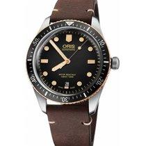 Oris Divers Sixty Five Ocel 40mm Černá Bez čísel