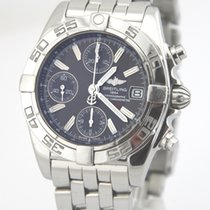 Breitling Chrono Galactic Steel 39mm Black Roman numerals
