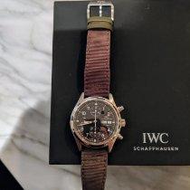 IWC Pilot Chronograph Acier 39mm Noir Arabes