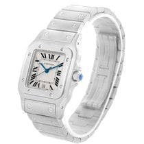 Cartier Santos Galbee Mens Quartz Steel Date Watch W20060d6