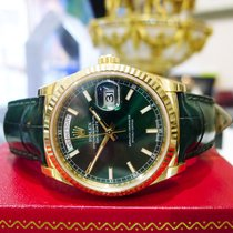 Rolex Day-date President 18k Yellow Gold 36mm Ref:118138 Green...