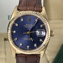 Rolex 16238 Date just 18k rare Factory Purple Diamond Full Set