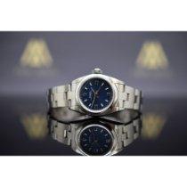 Rolex Oyster Perpetual Aço 26mm Azul