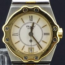 Chopard St. Moritz Goud/Staal 24mm Wit