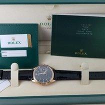 Rolex Cellini Date Rózsaarany 39mm Fekete Számjegyek nélkül