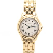 Cartier Cougar Yellow gold 33mm White Roman numerals United Kingdom, London