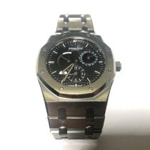 Audemars Piguet Royal Oak Dual Time Acero 39mm Negro Sin cifras