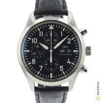 IWC Pilot Chronograph Aço 42mm Preto Árabes