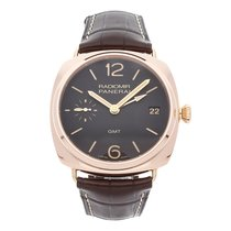 Panerai Radiomir 3 Days GMT Or rose 47mm Brun Arabes