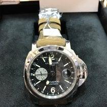 沛纳海  Luminor GMT Automatic 钢 44mm 黑色 阿拉伯数字