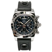 Breitling Chronomat Ab0110 Mens Automatic Watch Blue Dial...