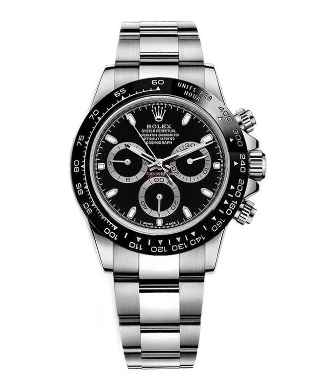 Rolex Daytona Ceramic Bezel Stainless Steel Black Dial 116500ln For