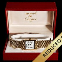 Cartier Tank Mechanical Louis Cartier Grain De Riz Mesh 18K Gold
