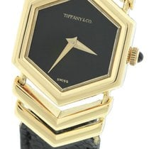 Tiffany Ladies Genuine Tiffany & Co. 18K Yellow Gold Black...