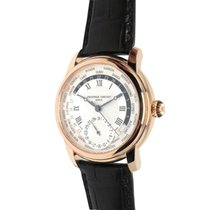 Frederique Constant Worldtimer Silver Dial Rose Gold-Plated