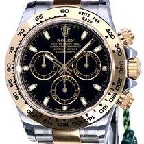 Rolex Daytona Cosmograph Gold Steel Black Dial 40 mm Full Set...