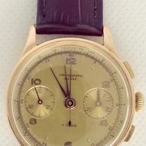 Chronographe Suisse Cie Aur roz Armare manuala Auriu Arabic 35mm folosit