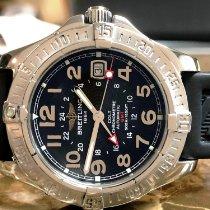 Breitling Colt GMT Black Dial Rubber Strap