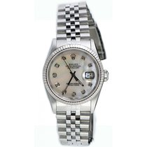 Rolex Lady-Datejust pre-owned 31mm Mother of pearl Date Steel