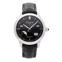 Glashütte Original Platinum Automatic Black No numerals 40mm pre-owned Senator Perpetual Calendar