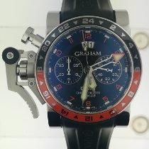 格林漢 鋼 45mm 自動發條 ref. 20vasgmt.b01a Graham Crono Fighter Oversize 新的