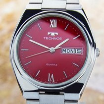 Technos pre-owned Quartz 35mm Red Sapphire crystal