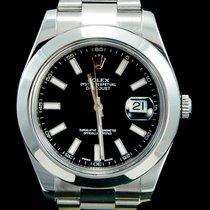 Rolex Datejust II Acier 41mm Noir Sans chiffres Belgique, Brussel
