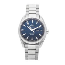 Omega Steel Automatic Blue No numerals 38.5mm pre-owned Seamaster Aqua Terra