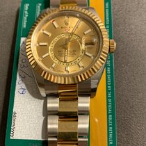 Rolex Sky-Dweller Gold/Steel 42mm Champagne No numerals United Kingdom, LONDON