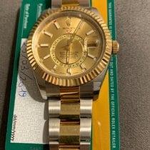 Rolex Sky-Dweller Zlato/Zeljezo 42mm Boja šampanjca Bez brojeva
