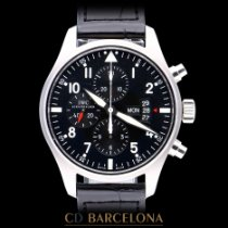 IWC Pilot Chronograph Acero 43mm Negro Árabes España, Barcelona