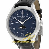 Baume & Mercier Clifton M0A10057 - Baume Et Mercier Moon Phase 43mm - Blue Dial new