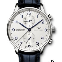 IWC Portuguese Chronograph Staal 40.9mm Wit Arabisch