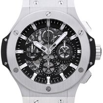 Hublot Big Bang Aero Skeleton Dial Leather Automatic Men Watch...