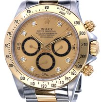 Rolex Oyster Daytona Cosmograph Gold Steel Diamonds Dial 40 mm