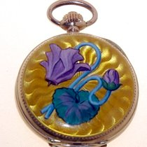 Anonymous 14K Gold & Diamonds + enamels pocketwatch
