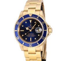 Rolex 16808 Yellow gold 1982 Submariner Date 40mm pre-owned United States of America, Florida, Miami Beach