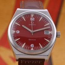 Omega Genève Steel 35mm Red Arabic numerals