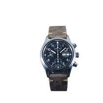 萬國 Pilot Chronograph 二手 39mm 黑色 計時碼錶 日期 星期顯示 皮
