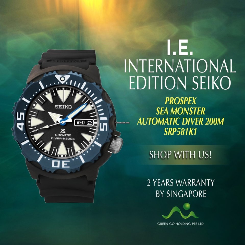 Seiko International Edition Sea Monster Automatic SRP581K1