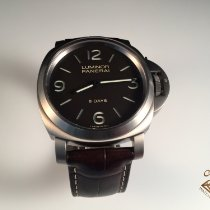 Panerai Luminor Base 8 Days usados 44mm Marrón Piel de aligátor