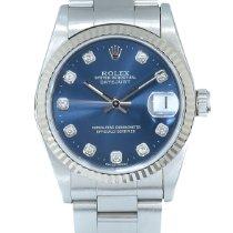 Rolex Lady-Datejust Aço 31mm Azul