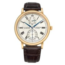 A. Lange & Söhne Langematik Rose gold 41mm Silver United States of America, Connecticut, Greenwich