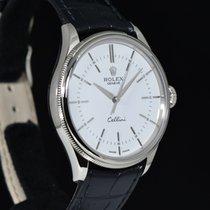 Rolex Cellini Time Λευκόχρυσος 39mm Άσπρο