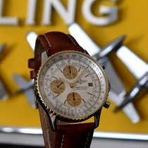 Breitling Old Navitimer occasion 41mm Blanc Chronographe Cuir