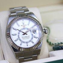 Rolex Sky-Dweller Acero 42mm Blanco Sin cifras