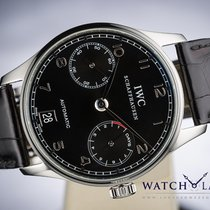 IWC PORTUGUESE 7 DAYS POWER RESERVE AUTOMATIC DATE BLACK DIAL