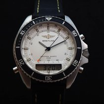 Breitling Pluton Staal 43mm Zilver